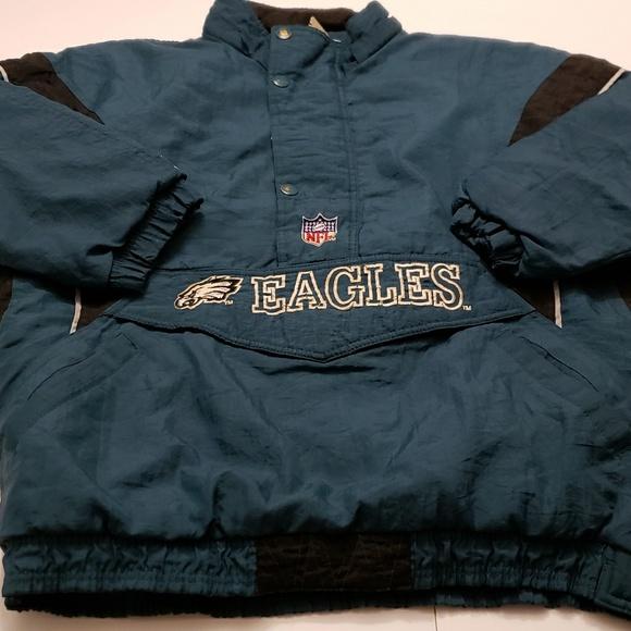 ad019c12 Eagles Mens Vintage Starter Jacket Large